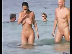 Nudists at the Beach Caught Making Sex on Voyeur Camera