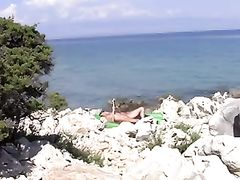 Sexy Topless Women Filmed at the Beach in Croatia