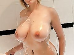 Sexy Chubby Nude Blonde with Nice Pair of Big Tits