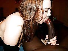 White Girl Sucking a Big Black Dick