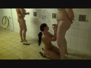 Wife Sucks Off Stranger In The Shower