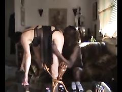 Interracial Video of White Woman with Black Man Doing Sex