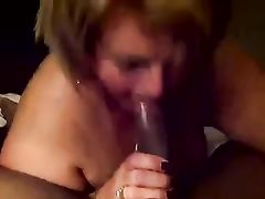 Fat White Woman Makes Black Cock Cum Hard in Her Mouth