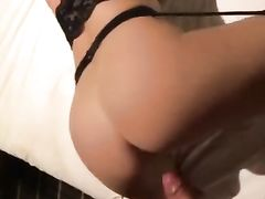 Hot blonde wife sucks and fucks her first monster black dick